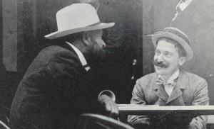 Alberto con Luigi Illica