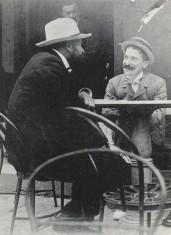 Franchetti con il librettista Luigi Illica in una foto dei primi anni del Novecento