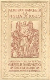 La figlia di Iorio (Copertina dello spartito, ed. Ricordi)