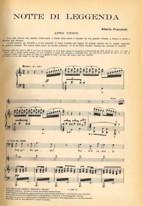 Notte di leggenda (prima pagina dello spartito, ed. Ricordi)