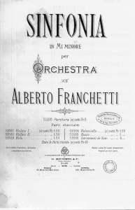 Alberto Franchetti, Sinfonia - frontespizio