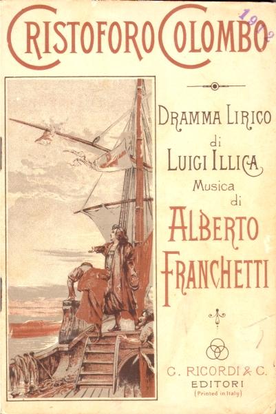 Franchetti, Cristoforo Colombo (libretto, ed. Ricordi)