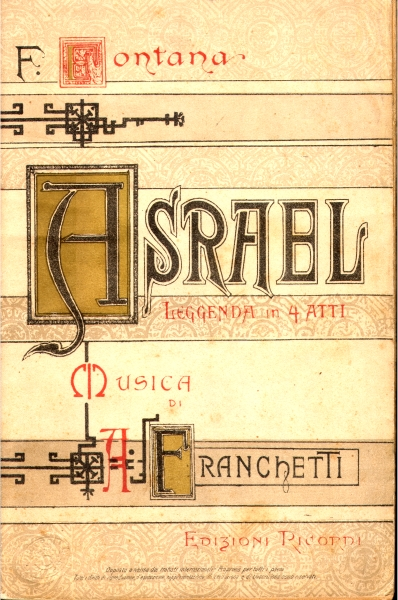 Asrael (libretto, ed. Ricordi)