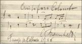 Appunto musicale con melodia dal Cristoforo Colombo, autografo di Franchetti