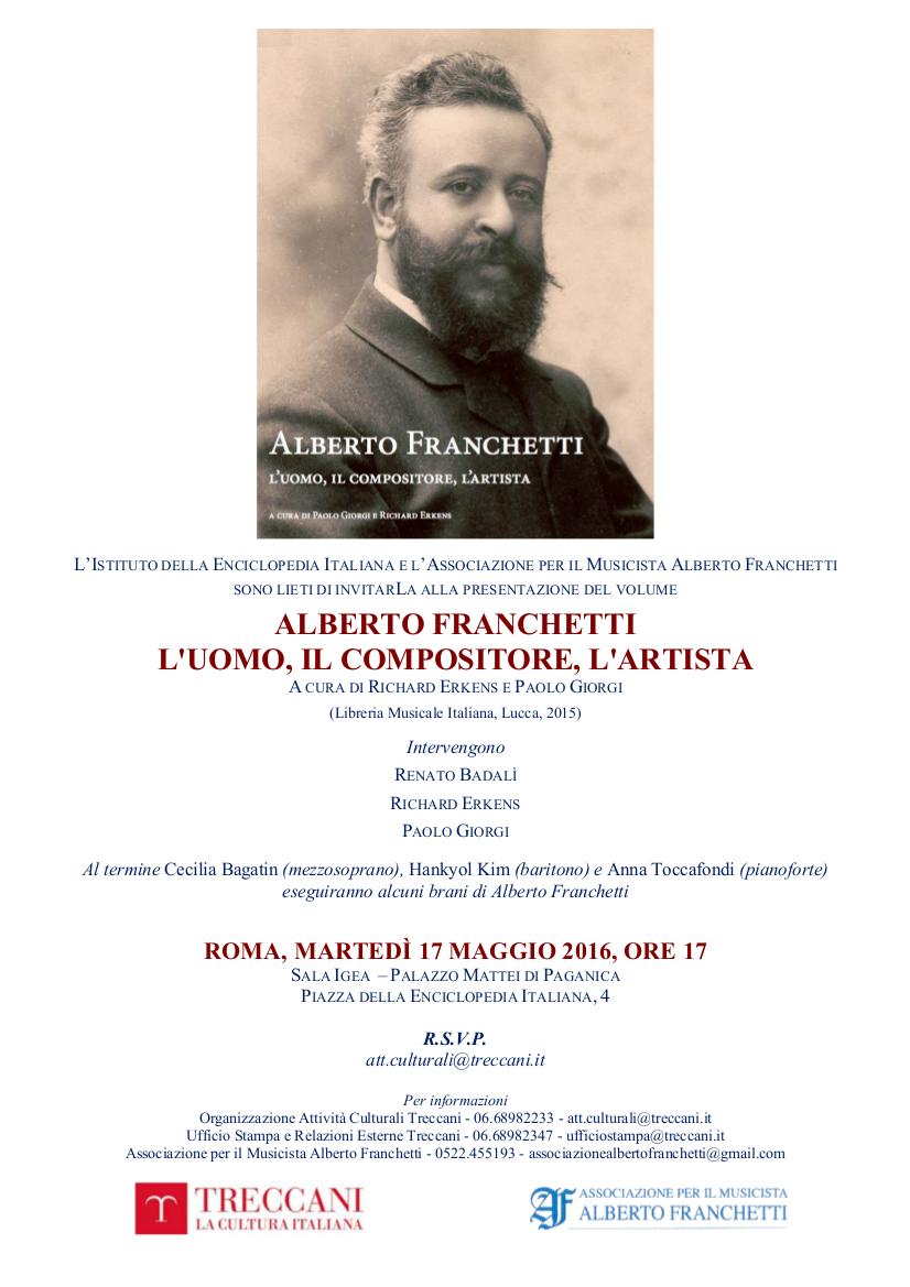 Roma 17 mag 2016 - presentaz libro Alberto Franchetti
