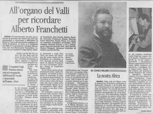2011 Concerto in palcoscenico Gazzetta di Reggio 22 gennaio 2011