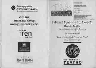 2011 Concerto in palcoscenico Programma recto