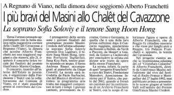 Eventi2004 13 Ultime Notizie Reggio 27 agosto 2004